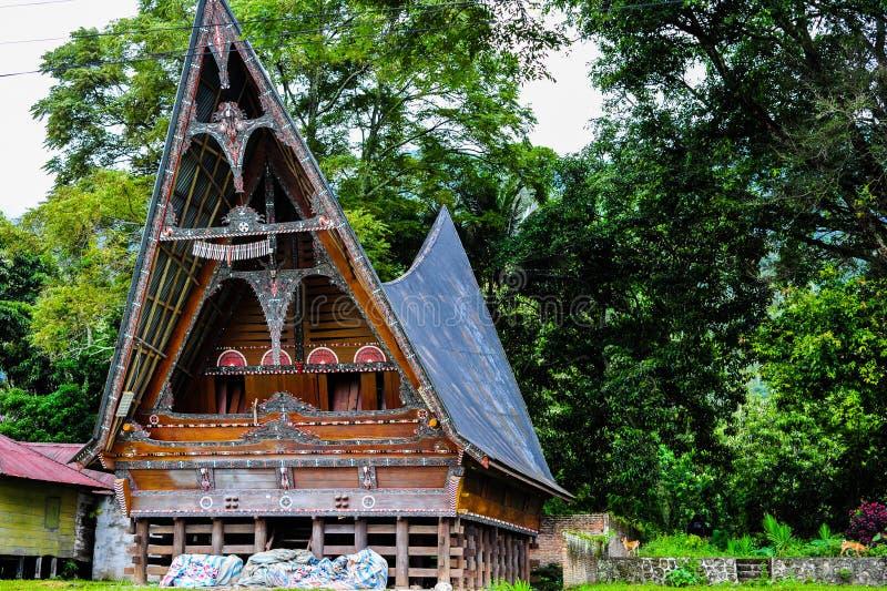 Этнический дом Batak в озере Toba стоковое фото