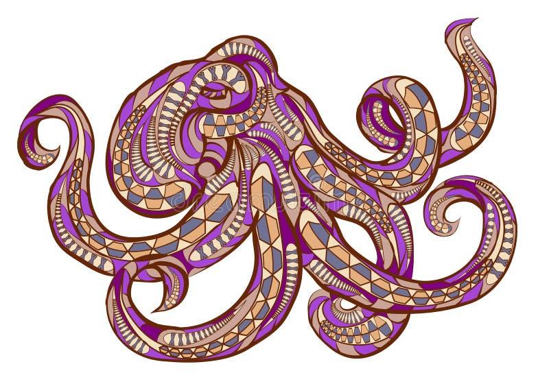 Этнический осьминог иллюстрация штока