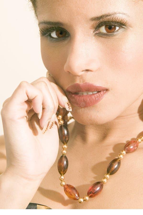 этнический портрет девушки способа стоковая фотография