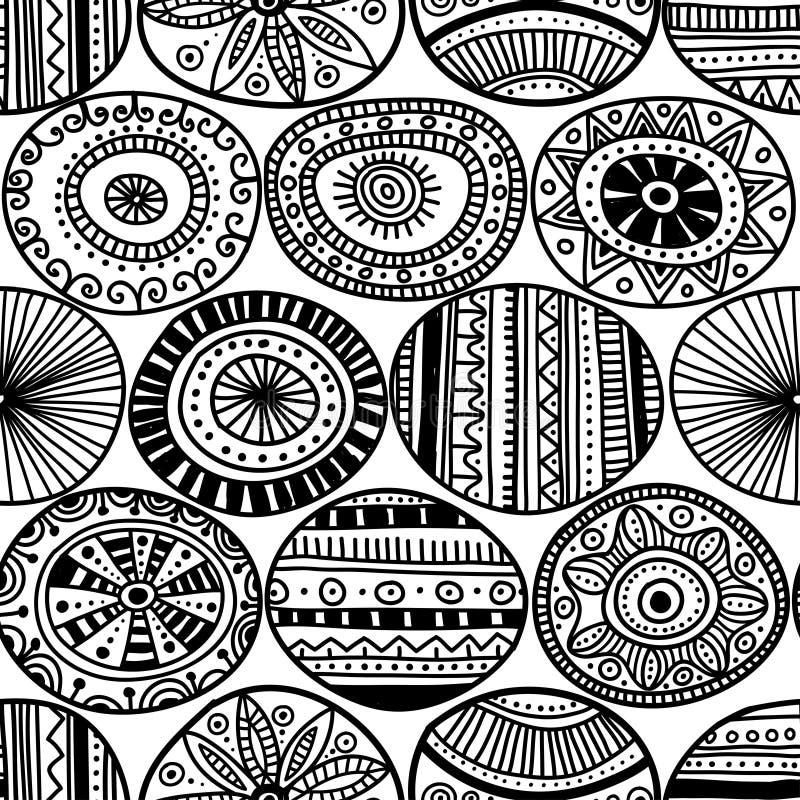 Этнический племенной стиль объезжает безшовную картину иллюстрация вектора