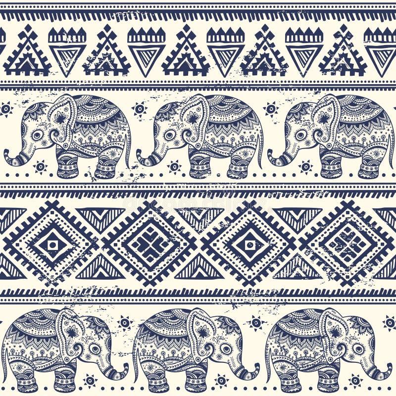 Этнический слон безшовный бесплатная иллюстрация