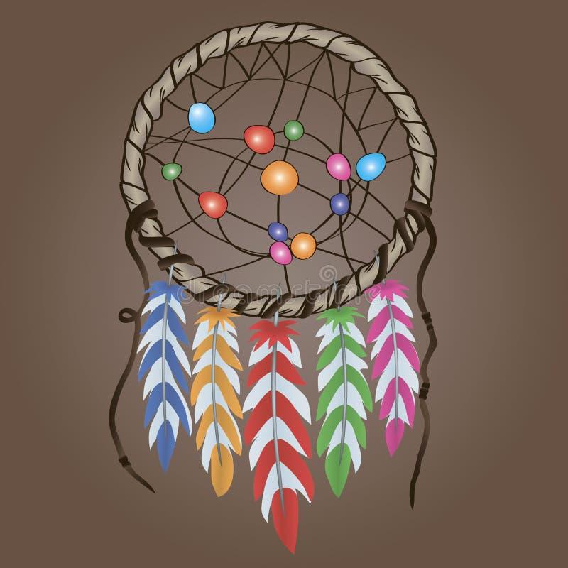 Этнический талисман Dreamcatcher иллюстрация вектора