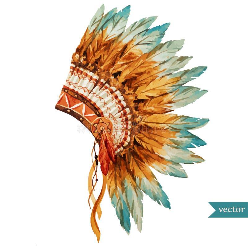 Этнический череп иллюстрация штока