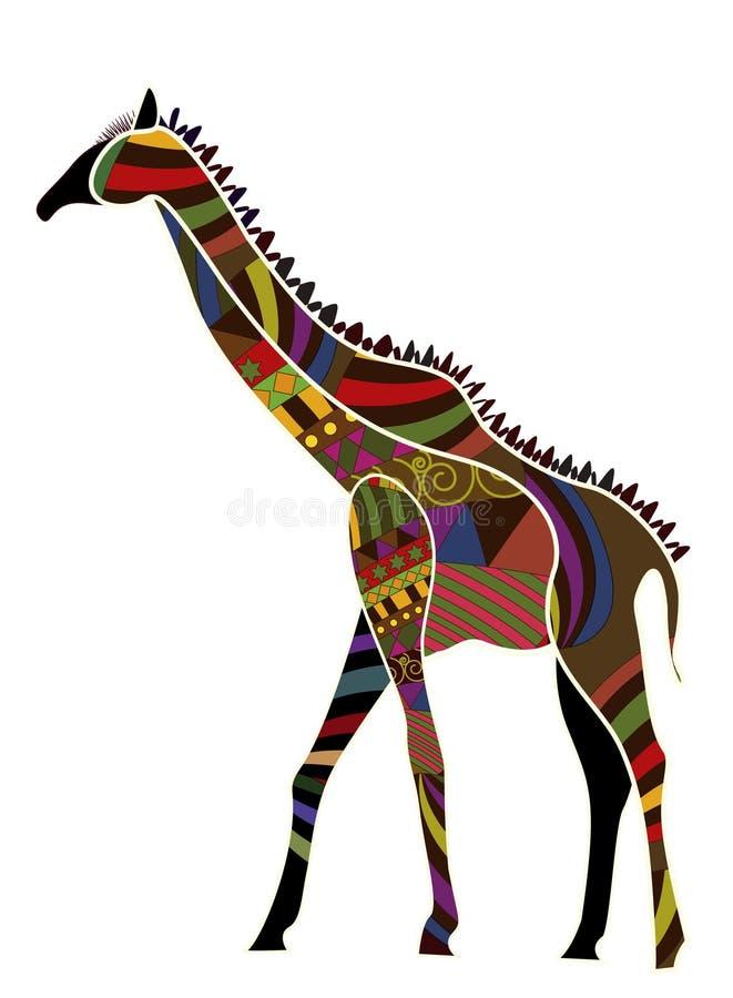 этнический giraffe иллюстрация штока