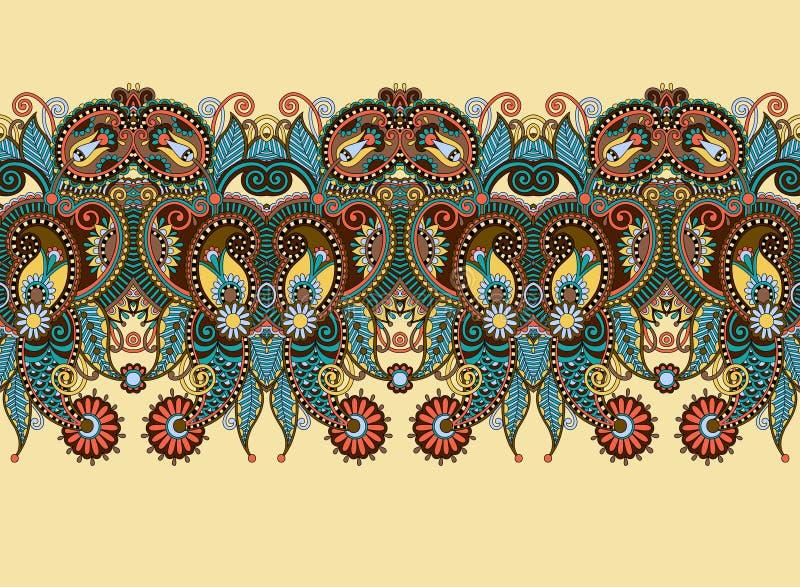 Этническое горизонтальное подлинное декоративное Пейсли бесплатная иллюстрация