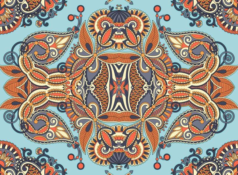 Этническое горизонтальное подлинное декоративное Пейсли иллюстрация вектора