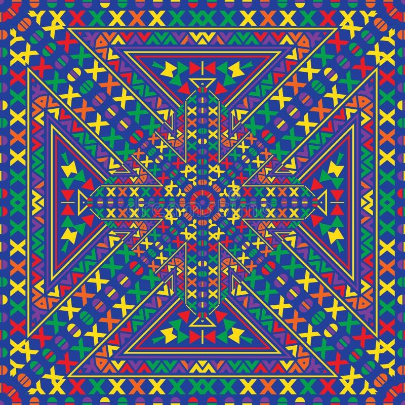 Этническое происхождение абстрактного вектора племенное безшовное иллюстрация штока