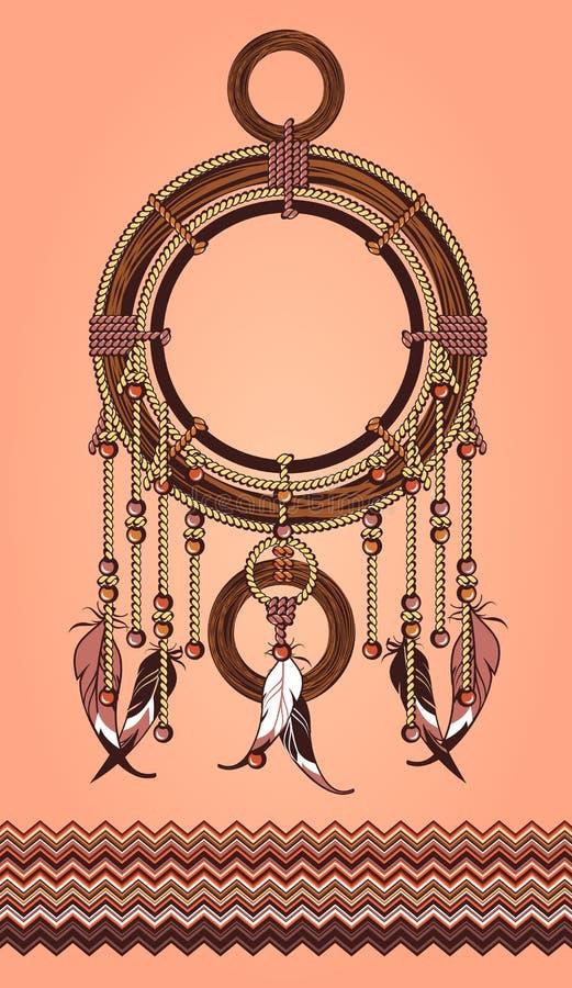 Этническое Dreamcatcher иллюстрация штока