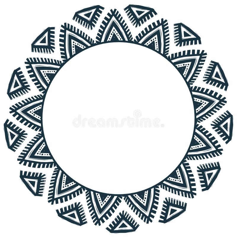 Этнической племенной рамка doodle вектора стиля нарисованная рукой иллюстрация вектора