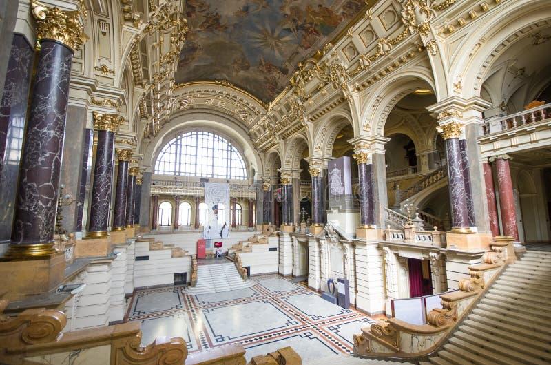 Этнографический интерьер музея в Будапеште, Венгрии стоковые фотографии rf