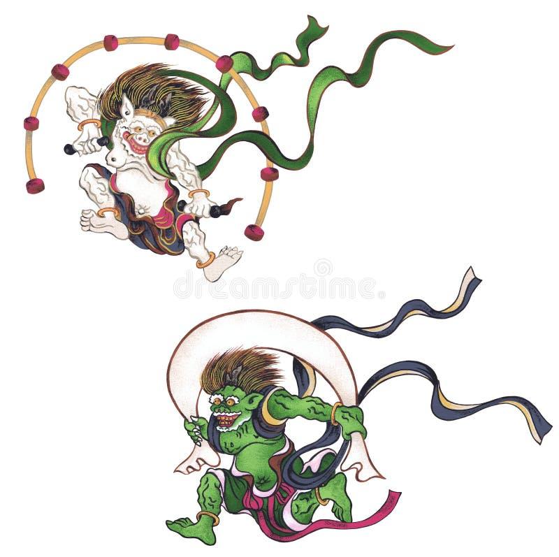 Это бог появляясь в японский миф бесплатная иллюстрация