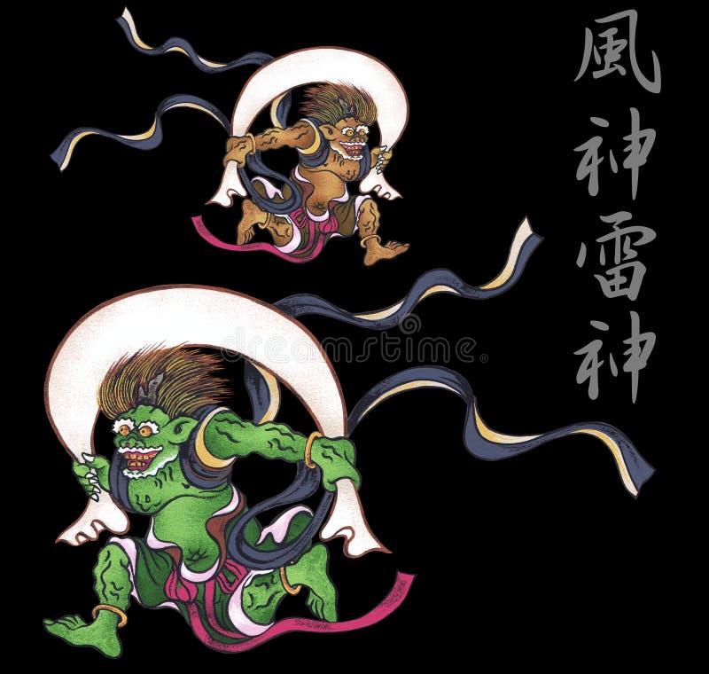 Это бог появляясь в японский миф иллюстрация штока