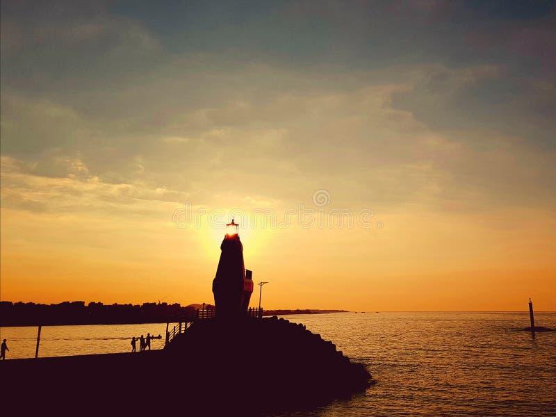 Это заход солнца от пляжа стоковое фото rf