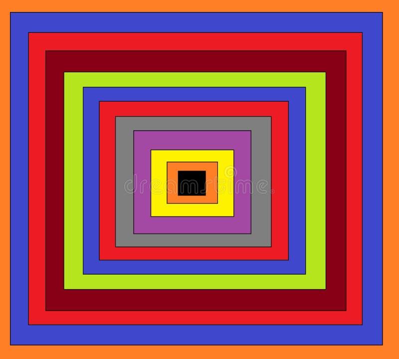 Это изображение много квадрат который в много цветов иллюстрация вектора