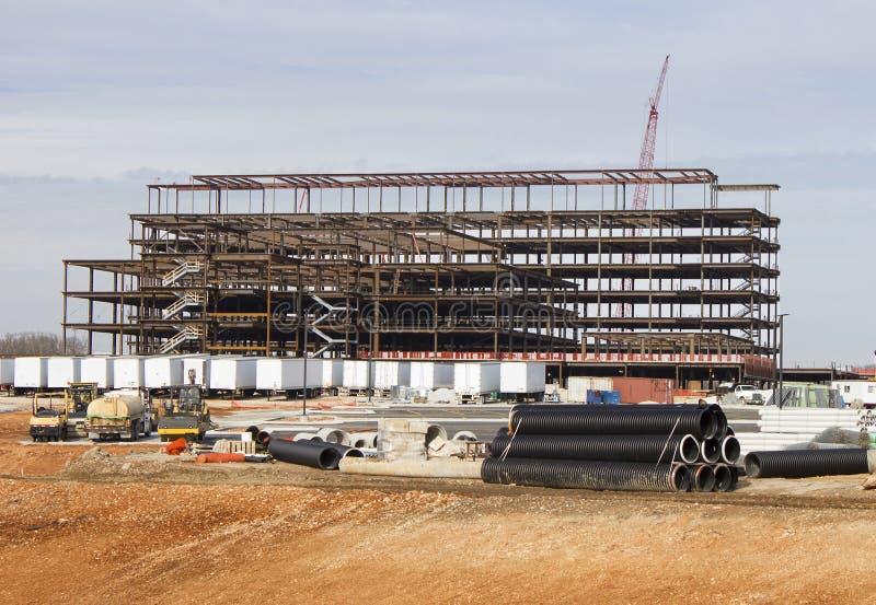 Строительная площадка больницы стоковое изображение rf