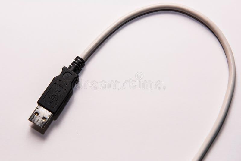 Это кабель USB который больше не не использован стоковые фото