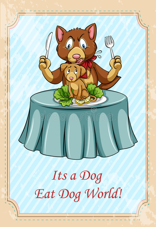 Это собака ест идиоматизм мира собаки бесплатная иллюстрация