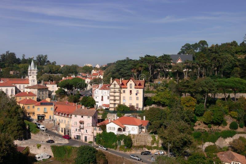 Это точка зрения в Sintra, Португалии! стоковая фотография
