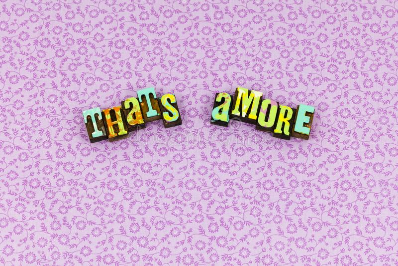 Это letterpress любов любов amore красивый стоковая фотография rf