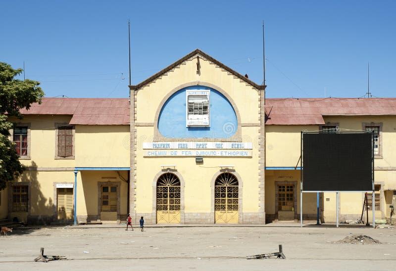 Эфиопия к железнодорожному вокзалу Джибути в суровом dawa эфиопии стоковые изображения