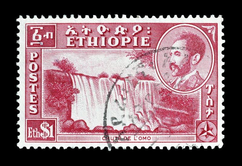 Эфиопия на печатях почтового сбора стоковые фото