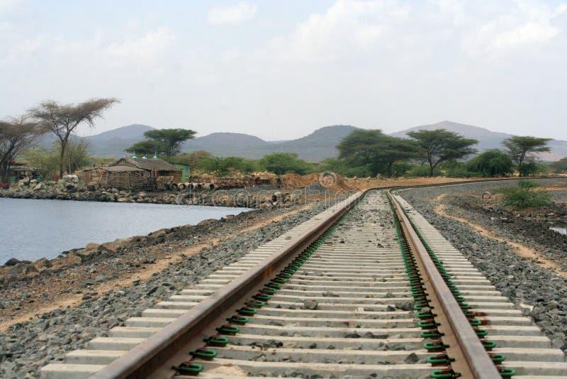 эфиопская железная дорога стоковые фото