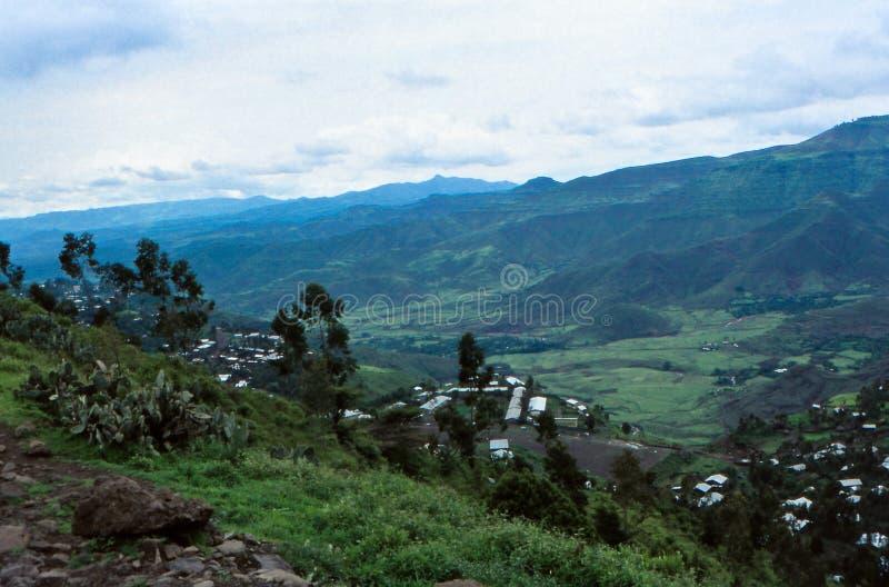 Эфиопские высокогорные земли Лалибела, Амхара, Эфиопия стоковое изображение rf