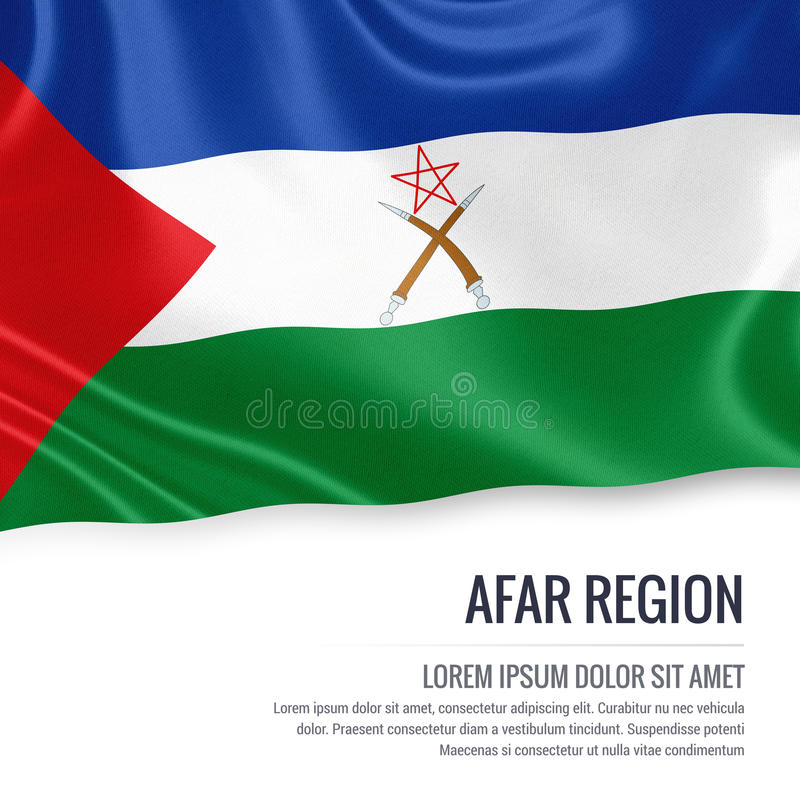 Эфиопский положения флаг зоны Afar иллюстрация вектора