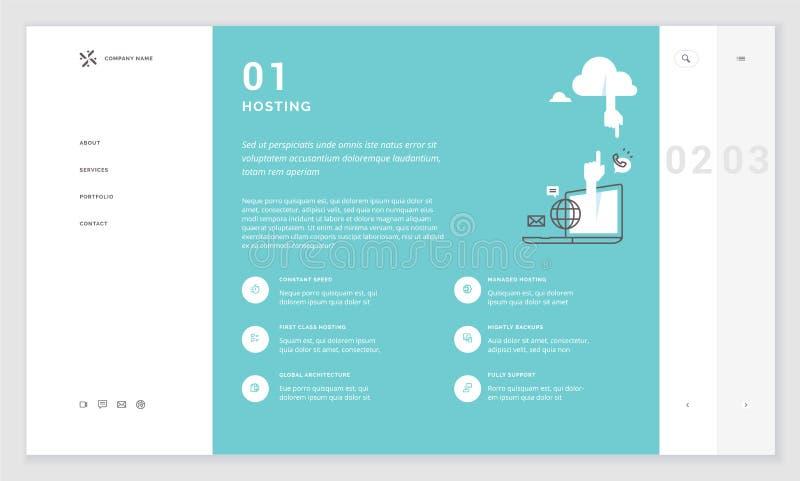 Эффективный дизайн шаблона вебсайта иллюстрация штока