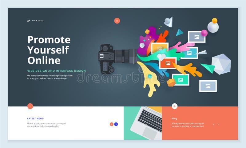 Эффективный дизайн шаблона вебсайта иллюстрация вектора