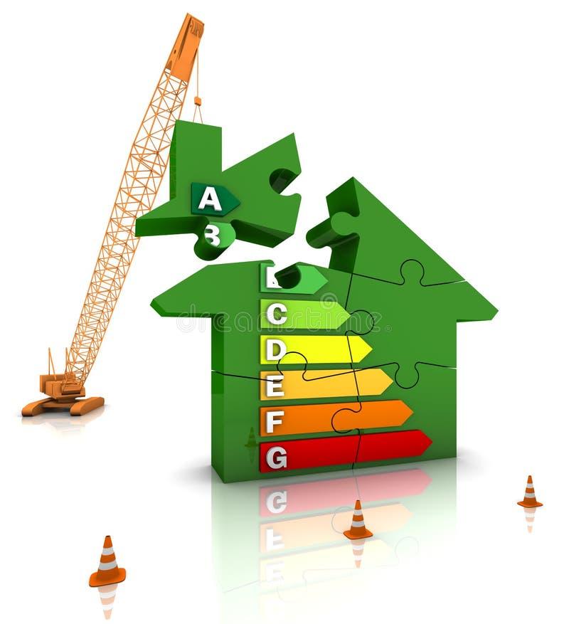 эффективный дом энергии иллюстрация штока
