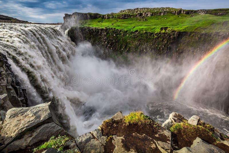 Эффектный водопад Dettifoss, Исландия стоковое изображение rf