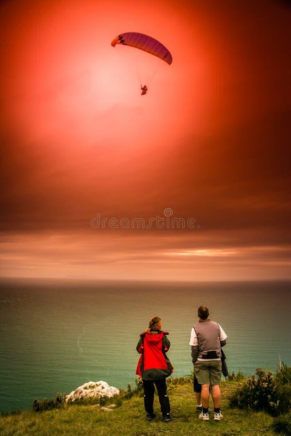 Эффектный skydiving стоковое фото rf