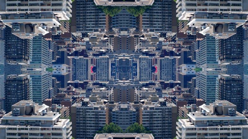 Эффект параллельного города бесплатная иллюстрация