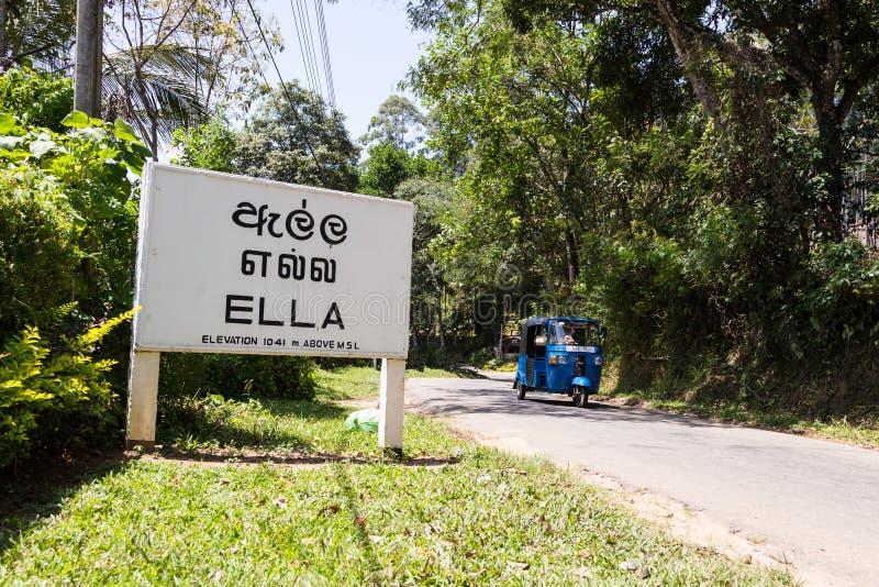 Элла, Шри-Ланка стоковое изображение