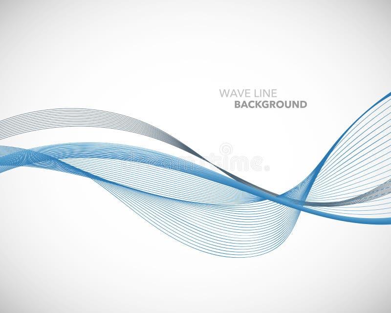 Элегантная абстрактная линия футуристический шаблон волны вектора предпосылки стиля бесплатная иллюстрация