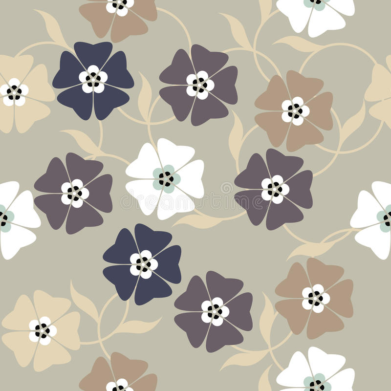 Элегантная бесконечная картина с цветками весны бесплатная иллюстрация