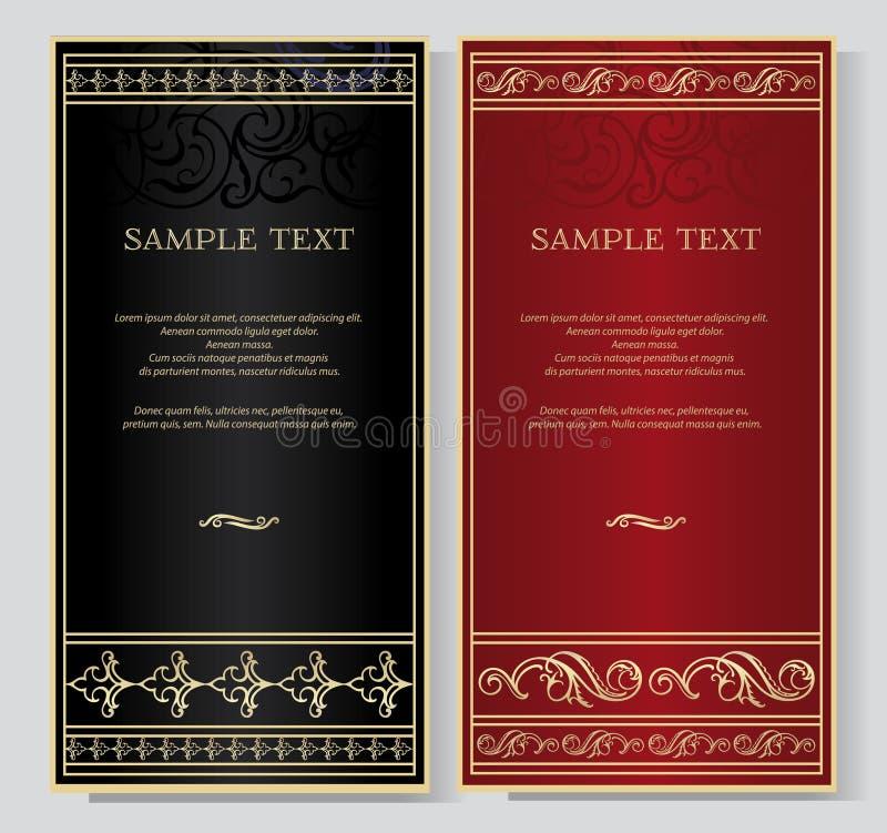 Элегантная винтажная предпосылка для текста бесплатная иллюстрация