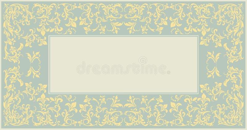Элегантная классическая рамка с винтажным орнаментом иллюстрация вектора