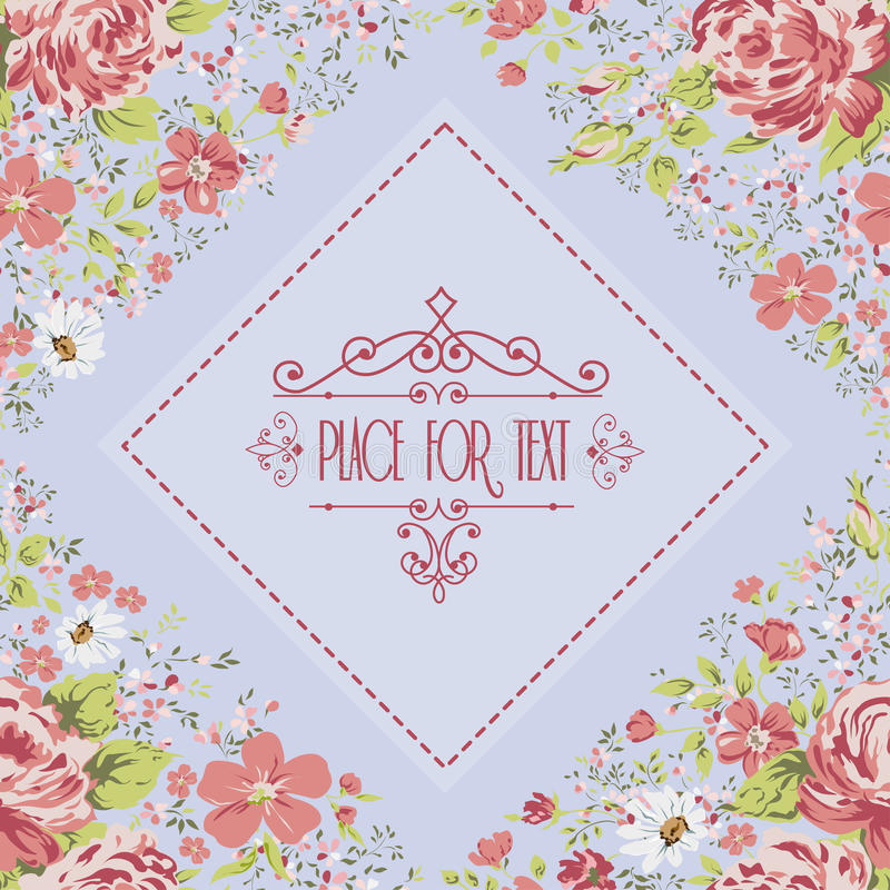 Элегантная рамка с розами вектор детального чертежа предпосылки флористический бесплатная иллюстрация