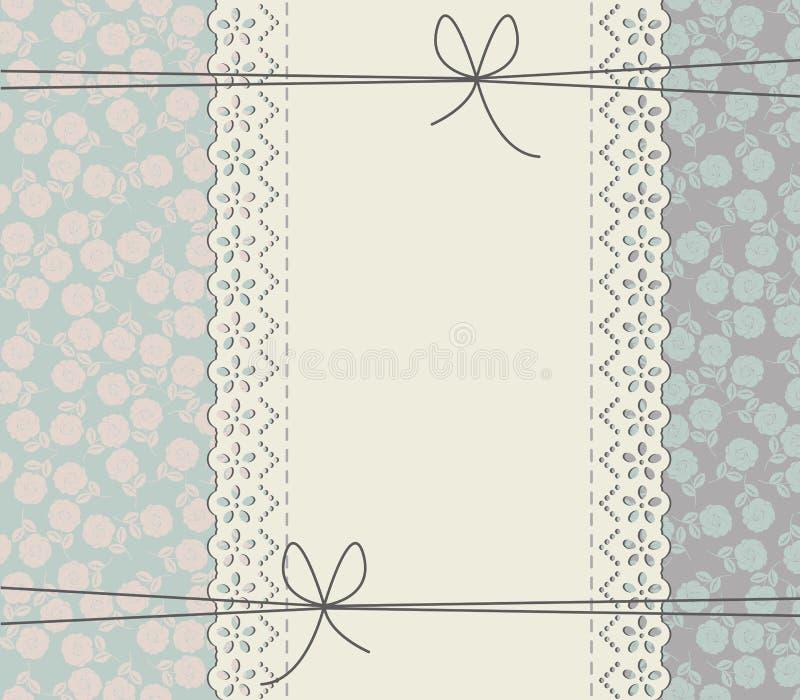 Элегантная рамка шнурка с розами иллюстрация штока