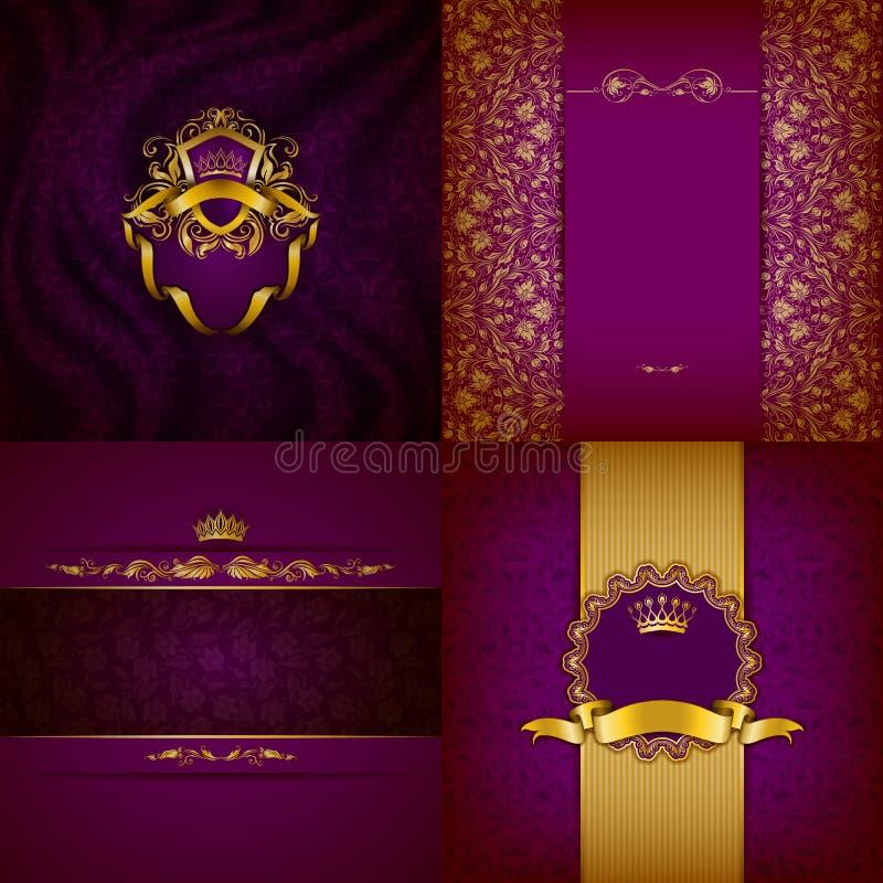 Элегантное золотое знамя рамки бесплатная иллюстрация