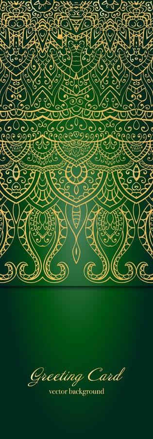 Элегантное индийское украшение на темной предпосылке конструкция стильная Смогите быть использовано как поздравительная открытка  бесплатная иллюстрация