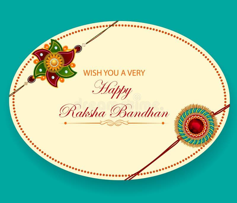Элегантное Rakhi для выпуска облигаций брата и сестры в фестивале Raksha Bandhan от Индии иллюстрация вектора
