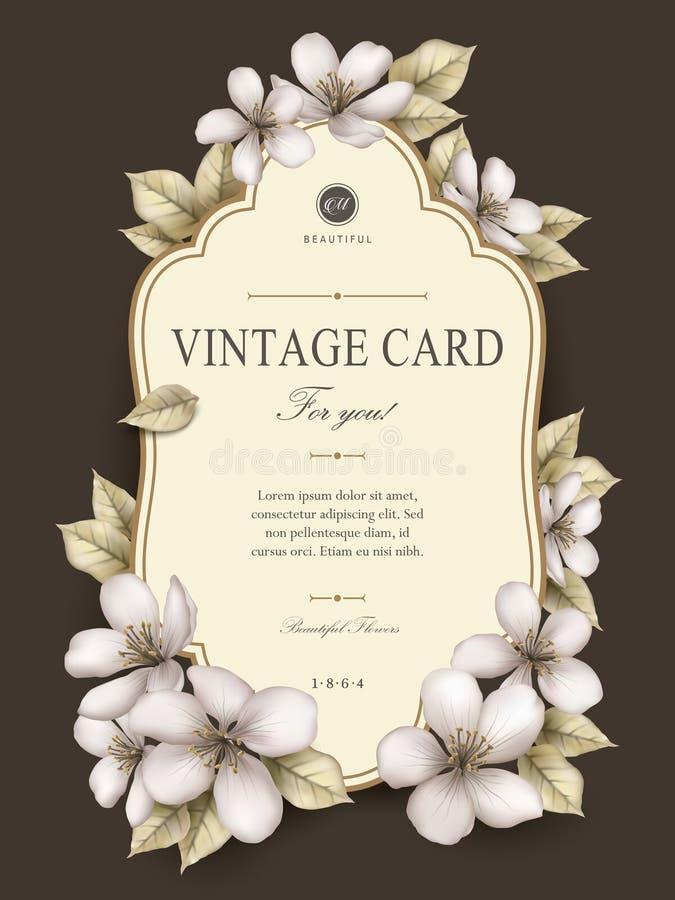 Элегантный винтажный дизайн карточки бесплатная иллюстрация