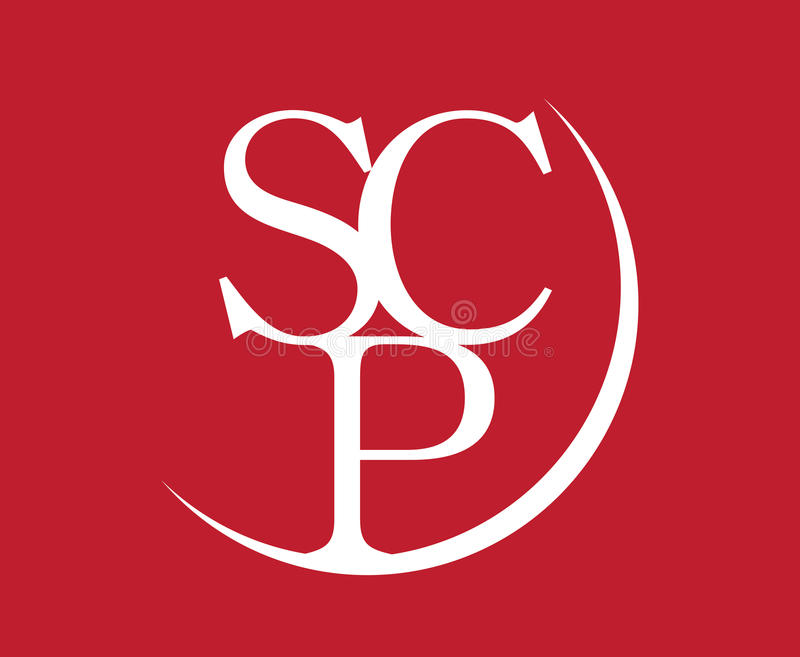 Элегантный дизайн логотипа SCP бесплатная иллюстрация
