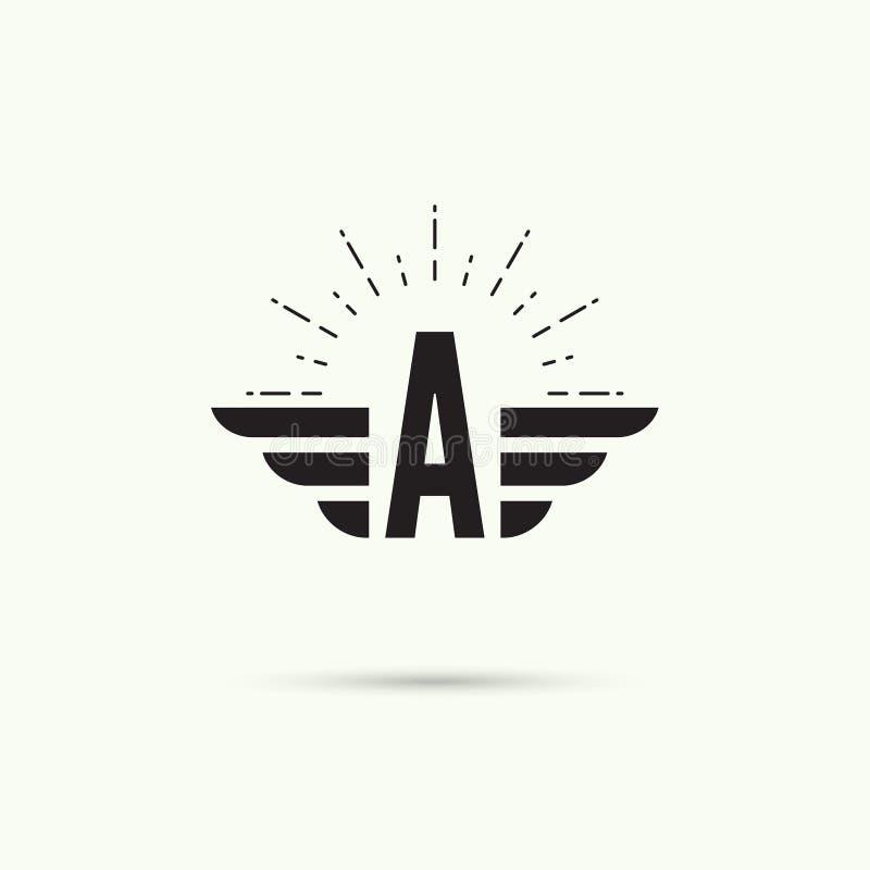 Элегантный динамический алфавит иллюстрация вектора