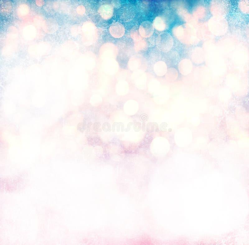 Элегантный свет рождества Bokeh Grunge иллюстрация штока