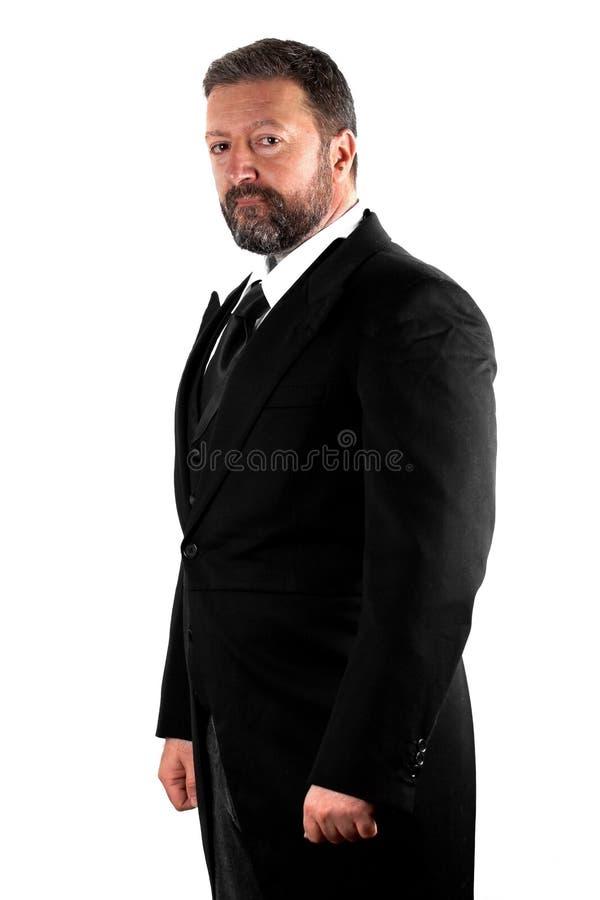 Элегантный человек на белой предпосылке стоковые фото