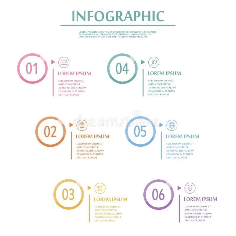 Элегантный infographic шаблон иллюстрация штока